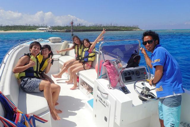 【2ポイントボートシュノーケリング&バナナボート】オススメの場所へ!(特別プラン)