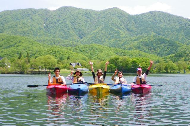 【福島・裏磐梯・カヤック】磐梯山を眺めながら!曽原湖カヤック体験(1人乗り)