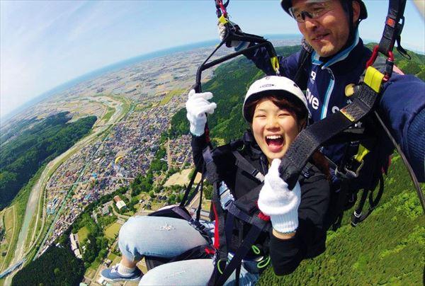 【石川・獅子吼高原・パラグライダー】タンデムで快適フライト!パラグライダーで空の魅力を満喫しよう!