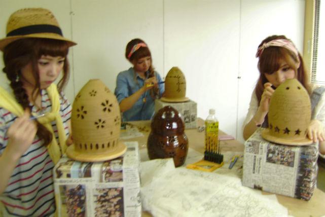 【佐賀県武雄・陶芸・ランプシェード彫り】みんなで作ろう!15名様以上の団体プラン