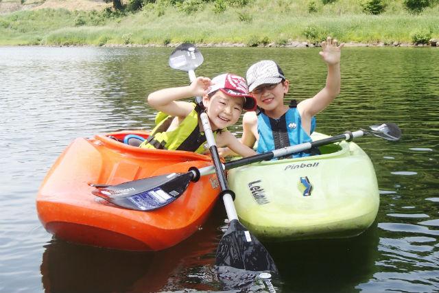 【島根・邑智郡・カヤック】往復2kmのゆったり川下り!江の川カヤックショートツアー(夏季限定)