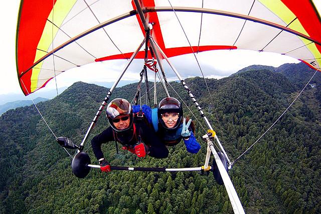 【ハンググライダー・2人乗りタンデム】富士山を見ながら、絶景フライトへ!