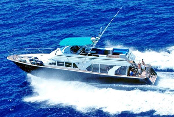 【半日】沖縄の海で貸切クルージング。優雅なひと時を楽しもう!