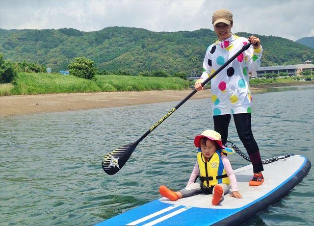 徳島・日和佐川でゆったりSUP体験(2時間半)シーカヤックも楽しめます!