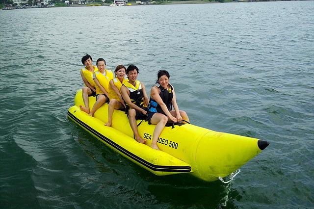 【山梨県・山中湖・BBQ】学生さん限定!山中湖を満喫!バナナボート&BBQで盛り上がろう!