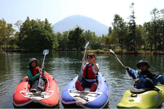 【北海道ニセコ・カヌー】3歳から参加OK!のんびりと楽しむカヌーツアー