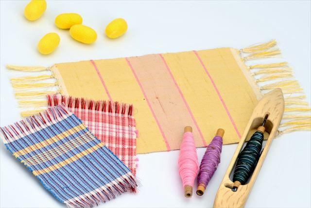 【山形・上杉家廟所すぐ】米沢織で作ろう!配色や柄を自分でデザイン、シルクテーブルセンター