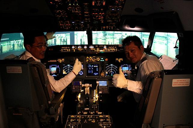 【ビジネスクラス】フライト時間&気象を選べる!フライトシミュレーター体験