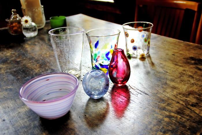 北海道・北広島市・吹きガラス(20分・コップ・ボウル・花瓶など)
