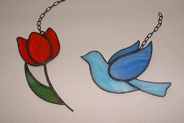 【横浜・1時間半】ステンドグラスキットで作ろう!小鳥orチューリップの飾りプラン