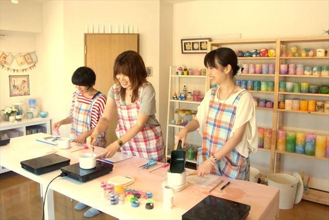 【横浜でキャンドル作り体験】気持ちのよいテラスのあるスタジオでキャンドル作りを体験しよう!