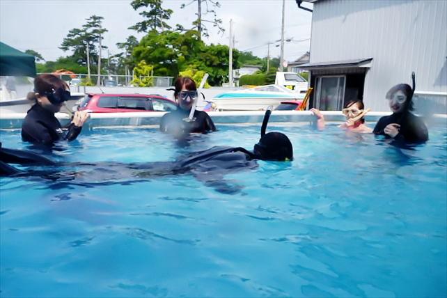 【富山・体験ダイビング】プール体験ダイビングでダイビングスキルを身に付けよう