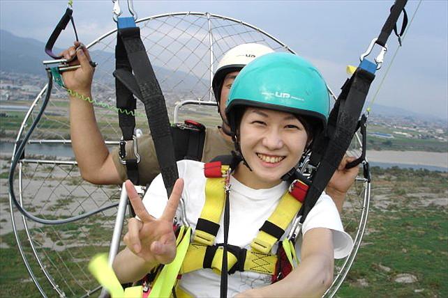 【徳島県・パラグライダー】 パワードパラグライダーに乗って、吉野川上空を風まかせに空中散歩