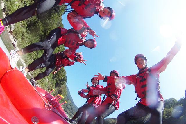 【高知・大豊町・ラフティング】午後半日!吉野川ラフティングツアー