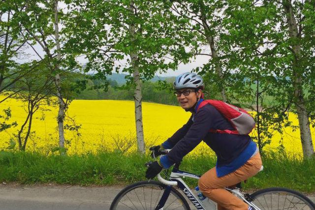 【札幌近郊・サイクリング】パレットの丘60kmコース・ロードバイクツアー(ドリンクサービス付き)