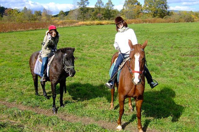 【十勝・乗馬】1日たっぷり乗馬を楽しめる!自由なコースを歩くホーストレッキング体験