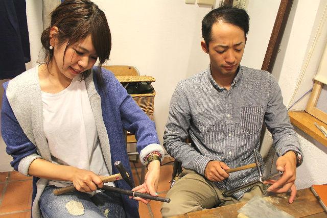 【札幌・シルバーアクセサリー】こだわり手作りペアリング製作体験プラン