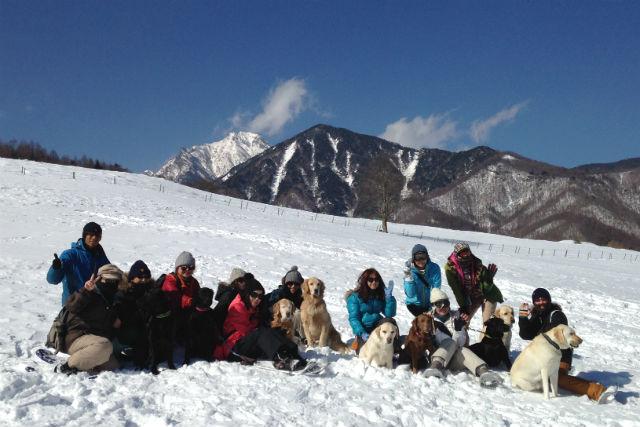 【山梨・八ヶ岳・トレッキング】ワンコと出かけよう!スノーシューハイキング