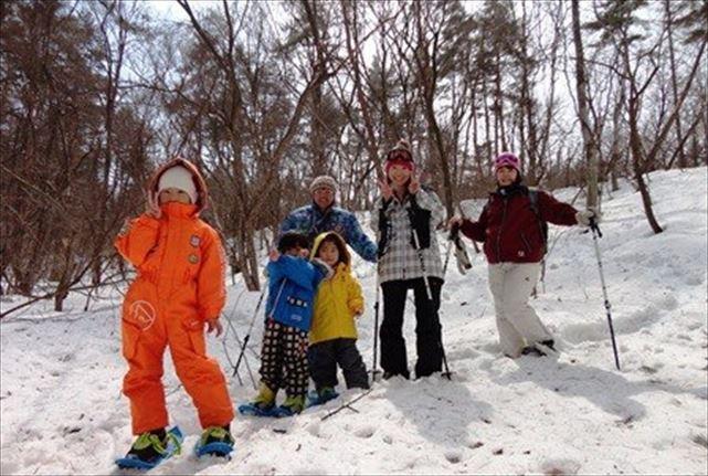 【北軽井沢・スノーシュー】気軽に雪遊びができるスノーシュー体験!スノーパークコース