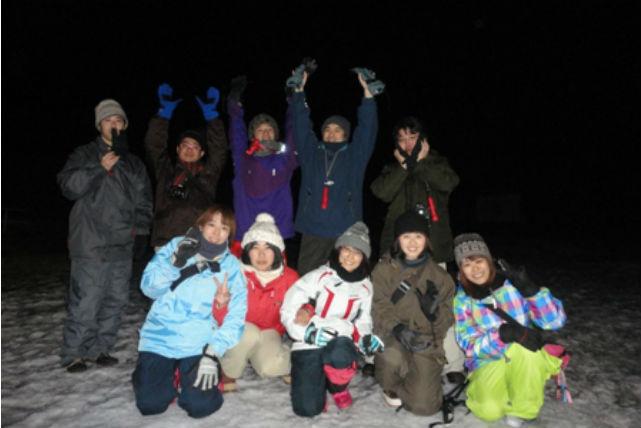【軽井沢・スノーシュー】 夜の森と星空のスノーシュー探検ツアー