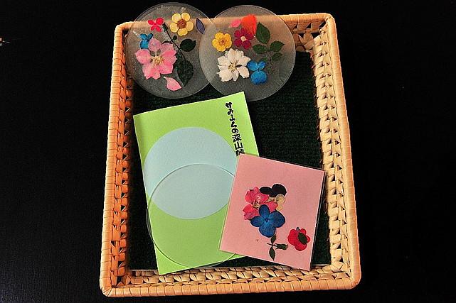 【北海道・アート体験】気軽にものづくり!押し花コースター作り体験
