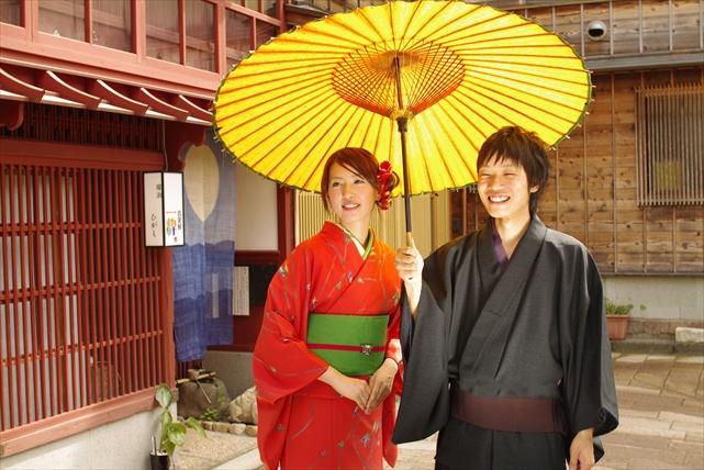 【金沢・着物レンタル】金沢の街をふたりで歩く。着物de観光カップルプラン