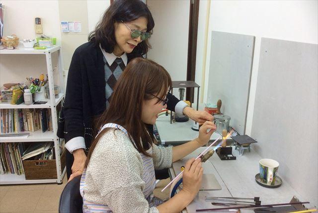 【京都・京田辺・アクセサリー制作】バーナーを作って本格ガラスアクセサリー作り