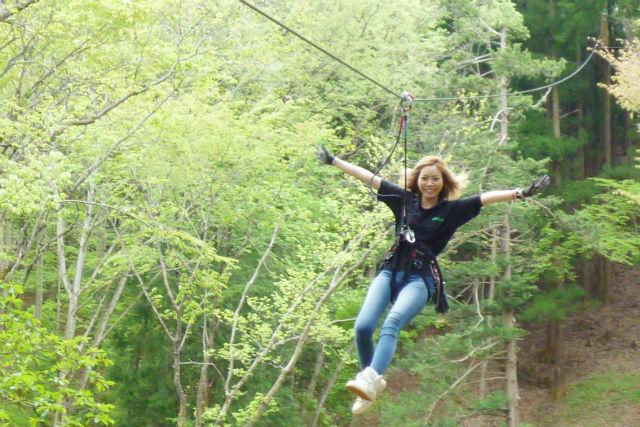【秩父・フォレストアドベンチャー】スリル満点の体験!森の空中を渡るフォレストアドベンチャー