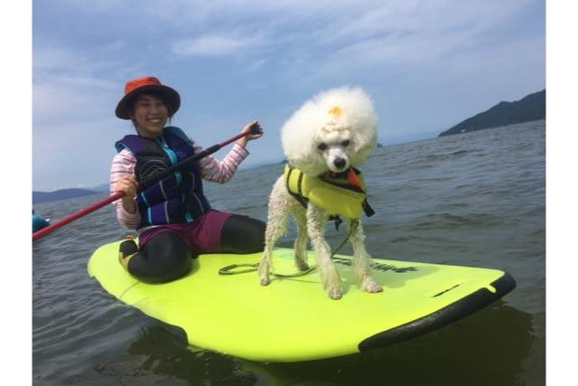 【滋賀・SUP・半日】愛犬と一緒に出かけよう!WAN SUP