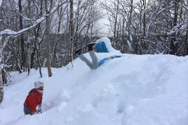 【札幌・スノーシュー】キッズ歓迎!滝野すずらん公園スノーシュートレッキング