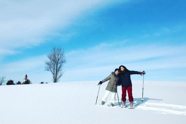 【札幌・スノーシュー】インスタ映え抜群の写真が撮れるスノーシューツアー♪カップルや女子旅の思い出作りにgood!!