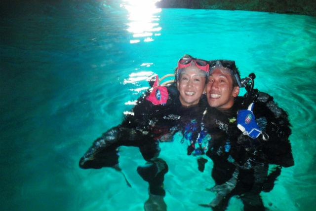 【沖縄・ダイビング】1組完全貸切!青の洞窟&熱帯魚&サンゴ礁体験ダイビング