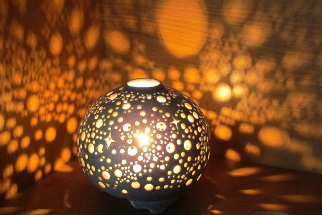 【岩手・陶芸】 夢灯(大)を作ってみよう!ふんわり灯るやさしい光に癒されて