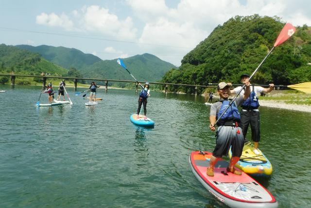 【高知県四万十川・1日・SUP】全長196kmの1級河川、四万十川を満喫する1日SUP体験