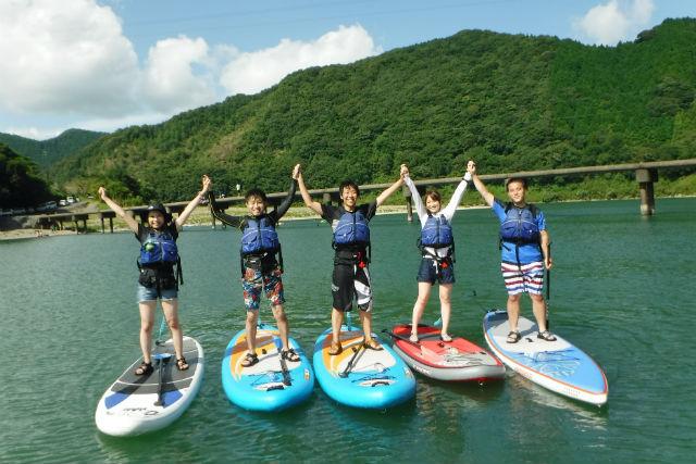 【高知県四万十川・半日・SUP】日本最後の清流、四万十川を楽しもう!半日SUP体験