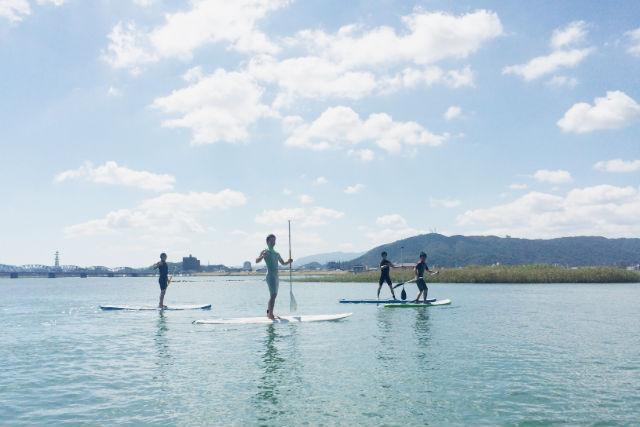 【徳島・SUP】波がおだやかな一級河川「吉野川」で遊ぼう!