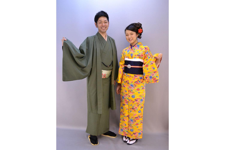【京都・着物レンタル】お互いの着物姿にドキドキ!カップル和装プラン