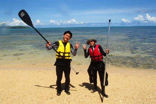 【沖縄県・読谷村・SUP】送迎あり!SUPで沖縄の美ら海をゆったりとお散歩!