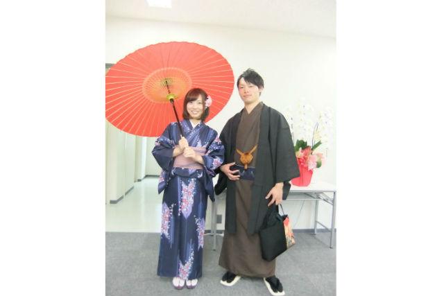 【京都・カップル向け・着物レンタル】京都そぞろ歩きを楽しむ、カップル着物レンタルプラン