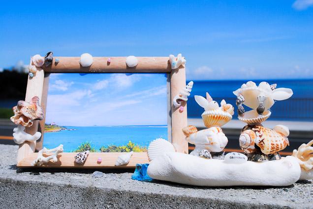 沖縄・今帰仁村・マリンクラフト(貝殻とサンゴのフォトフレームコース・1時間)
