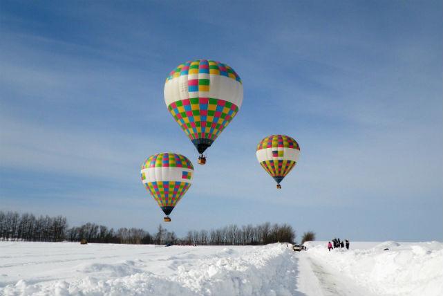 【北海道・オホーツク・熱気球】流氷と世界自然遺産の大飛行を満喫!熱気球オホーツクフリーフライト