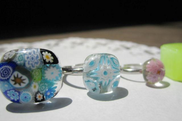 【神戸・ガラス細工】キラキラお花の指輪を手作り!ヴェネチアンガラスをリングにしよう