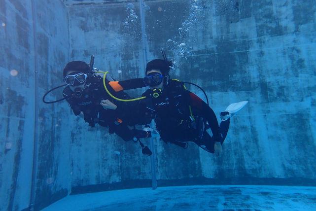 【広島市・体験ダイビング】プールで安全に実習できます!体験ダイビング