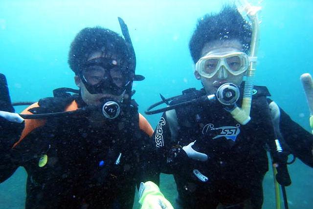 【山口県下関・体験ダイビング】青海島発・ビーチ体験ダイビング!キッズ、学生大歓迎です!
