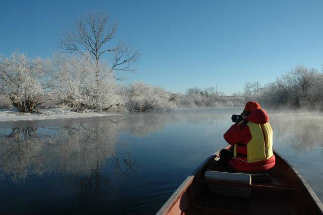 【釧路・カヌー】釧路湿原でウインターカヌー。冬だからこそ見られる景色を見に行こう!