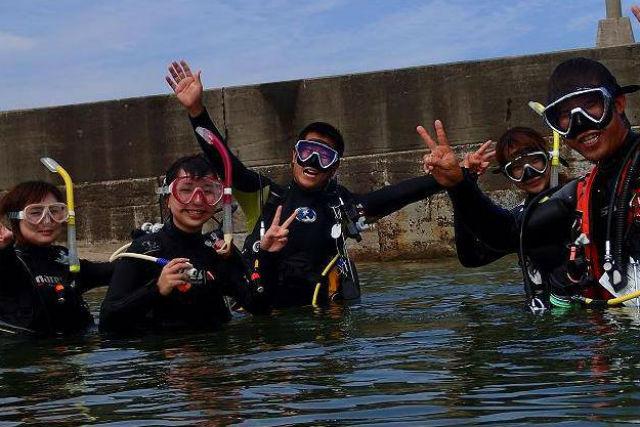【島根県大田市・ファンダイビング】おすすめのポイントから潜る! ビーチダイビング