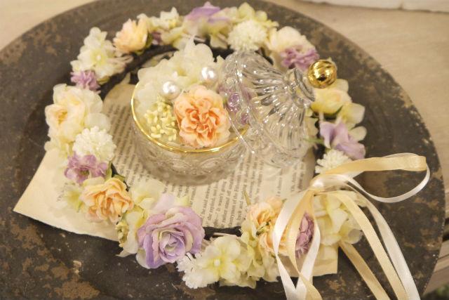 【神戸三宮・アクセサリー手作り体験】一生に一度!お花のブライダルアクセサリーをハンドメイドしよう