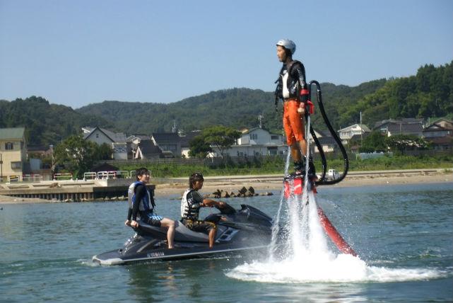 【富山・フライボード&ジェットスキー】両方楽しめる贅沢プラン!丸一日たっぷり体験!(要特殊小型免許)