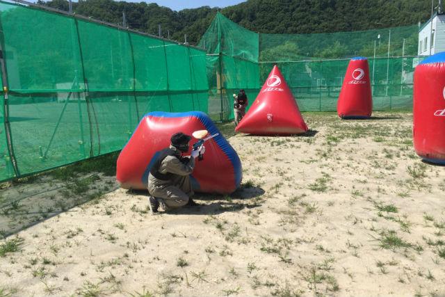 【北海道空知・サバイバルゲーム】ボールの数を自由に選べる!ぺイントボール・Bコース