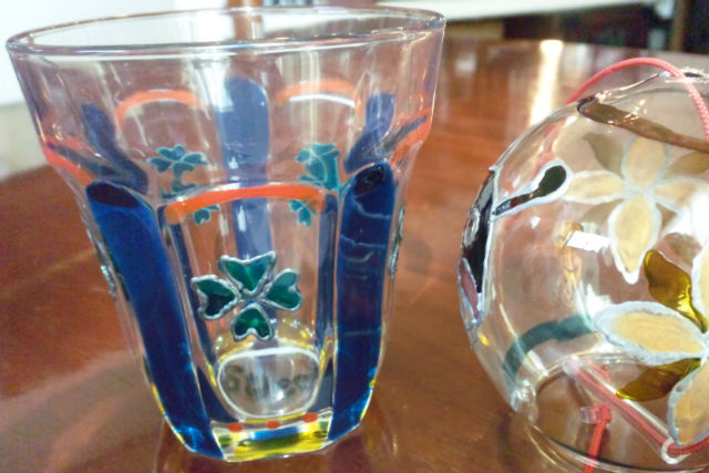 【岐阜・ガラス工芸】毎日使える!飲食用コップに、自分だけの絵を描こう